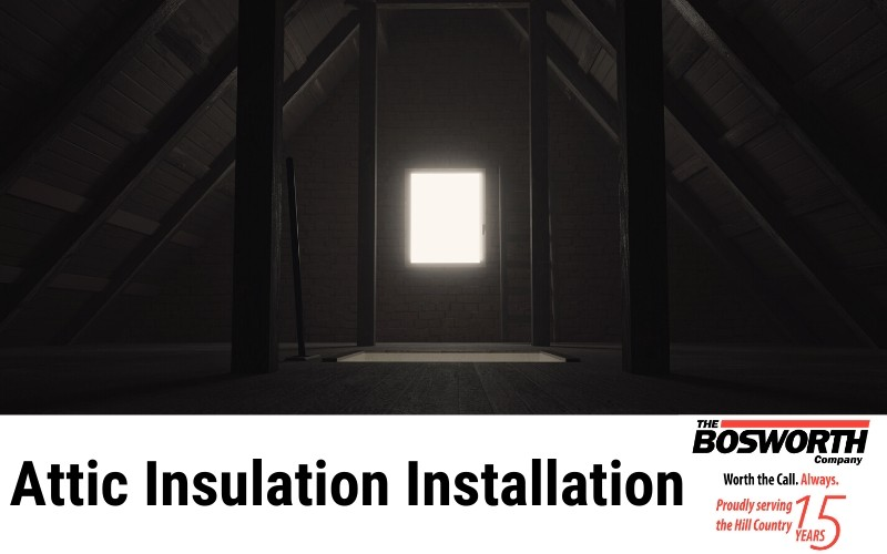 Picture of an attic with no insulation installed